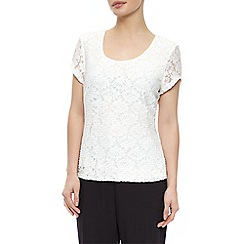 Precis Petite - Pleated Lace Top