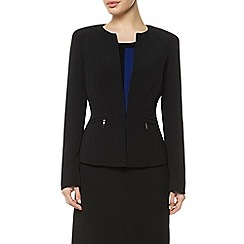 Precis Petite - Collarless Zip Detail Jacket