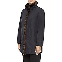 Jacques Vert - Mid Length Funnel Neck Fur Tri