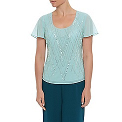 Jacques Vert - Linear lines embellished top