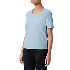 Eastex - Sky short sleeve pique top