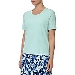 Eastex - Aqua short sleeve pique top