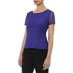 Planet - Purple circle lace top