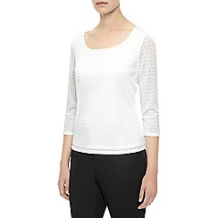 Planet - Ivory textured top