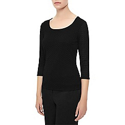 Planet - Black textured top