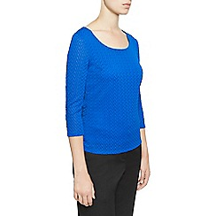Planet - Blue Wave Textured Top