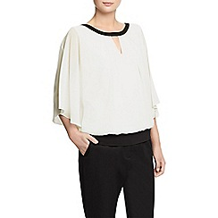 Planet - Ivory Woven Top