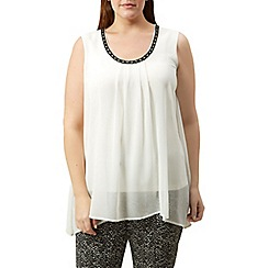 Windsmoor - Sleeveless ivory floaty top