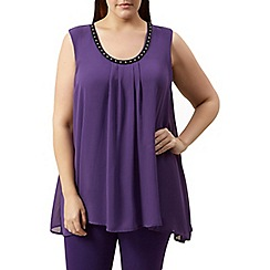 Windsmoor - Purple embellished floaty top