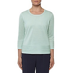 Eastex - Aqua pintuck hem sweater