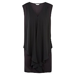 Windsmoor - Black chiffon jersey top