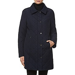 Windsmoor - Mid Navy Deco Quilt Coat