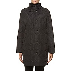 Windsmoor - Mid Black Hexagon Quilt Coat
