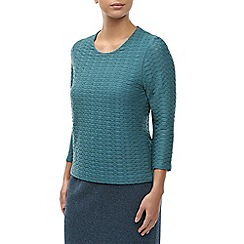 Eastex - Teal Texture Top