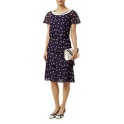 Jacques Vert - Petite spot print tiered dress