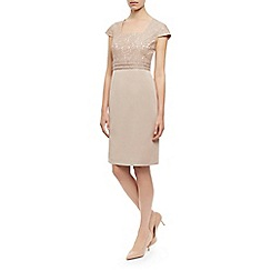 Kaliko - Lace top satin shift dress