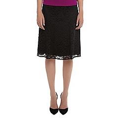 Kaliko - Flippy Lace Belted Skirt