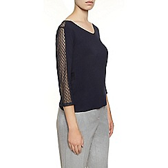 Planet - Navy Textured Top