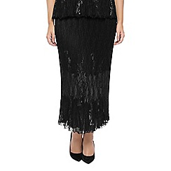 Windsmoor - Black Lace Crinkle Skirt