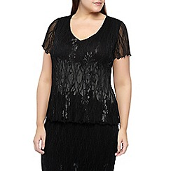 Windsmoor - Black Lace Crinkle Top