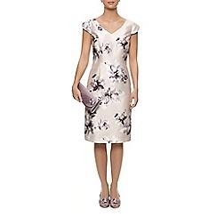 Jacques Vert - V Neck Flower Shift Dress