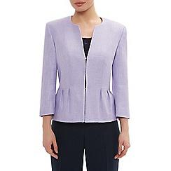 Precis Petite - Lilac edge to edge texture jacket