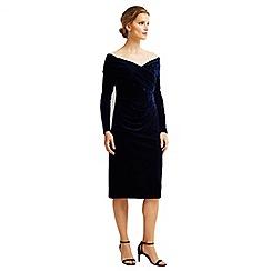 Jacques Vert - Velvet Bardot Cocktail Dress