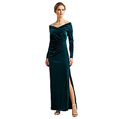 Jacques Vert - Velvet Bardot Long Dress