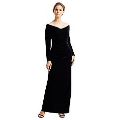 Jacques Vert - Velvet Bardot Long Dress