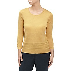 Eastex - Ochre pintuck hem sweater