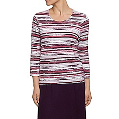 Eastex - Cassis Watercolour Stripe Top