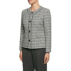 Eastex - Piped Round Neck Tweed Jacket