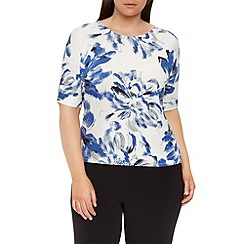 Windsmoor - Large Flower Jersey Top