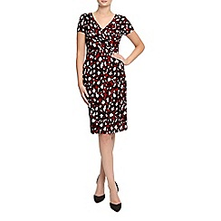 Planet - Red Animal Print Jersey Dress