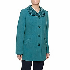 Eastex - Teal Check Collar Coat