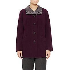 Eastex - Plum Check Collar Coat