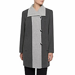 Eastex - Charcoal Contrast Tipped Coat