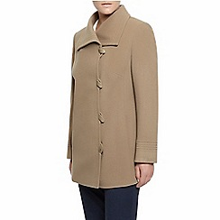Eastex - Taupe Asymetric Toggle Coat