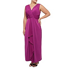 Windsmoor - Magenta chiffon maxi dress