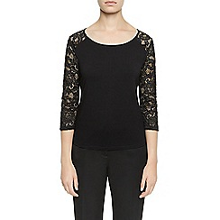 Planet - Black Lace Top