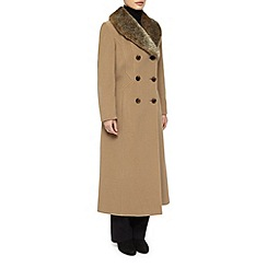 Precis Petite - Fur Collar Wool Coat