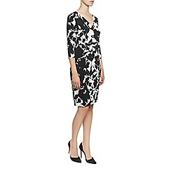 Planet - Black & White Print Dress