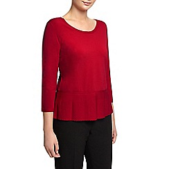 Planet - Hem Red Knit Jumper