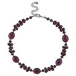 Jacques Vert - Crystal facet necklace