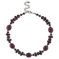 Jacques Vert - Crystal facet necklace