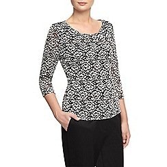 Planet - Contrast Lace Top