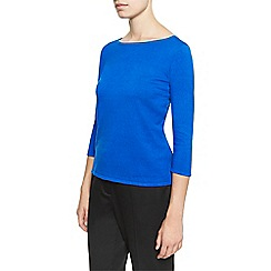 Planet - Blue Plain Knit Jumper