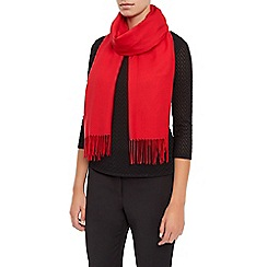 Planet - Red Plain Scarf