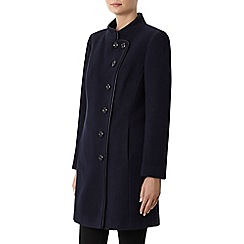 Windsmoor - Navy Funnel Mid Wool Coat