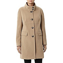 Windsmoor - Camel Funnel Mid Wool Coat